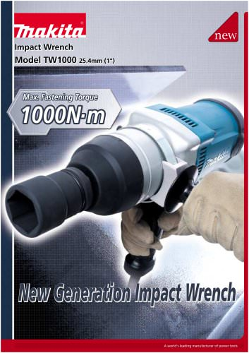 Impact Wrench TW1000 - MAKITA - PDF Catalogs | Technical