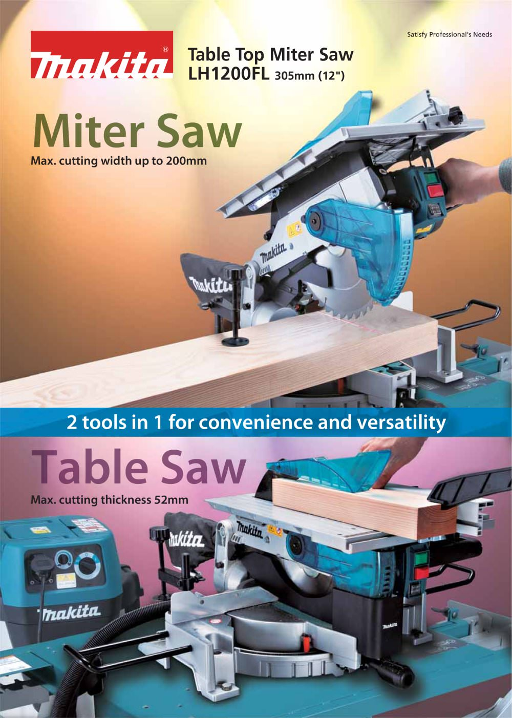 Table Top Miter Saw LH1200FL   1 / 2 Pages