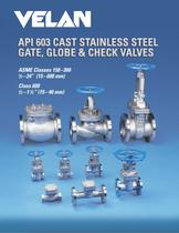 API 603 corrosion resistant gate, globe &amp; check valves