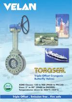 Cryogenic Torqseal triple-offset butterfly valves