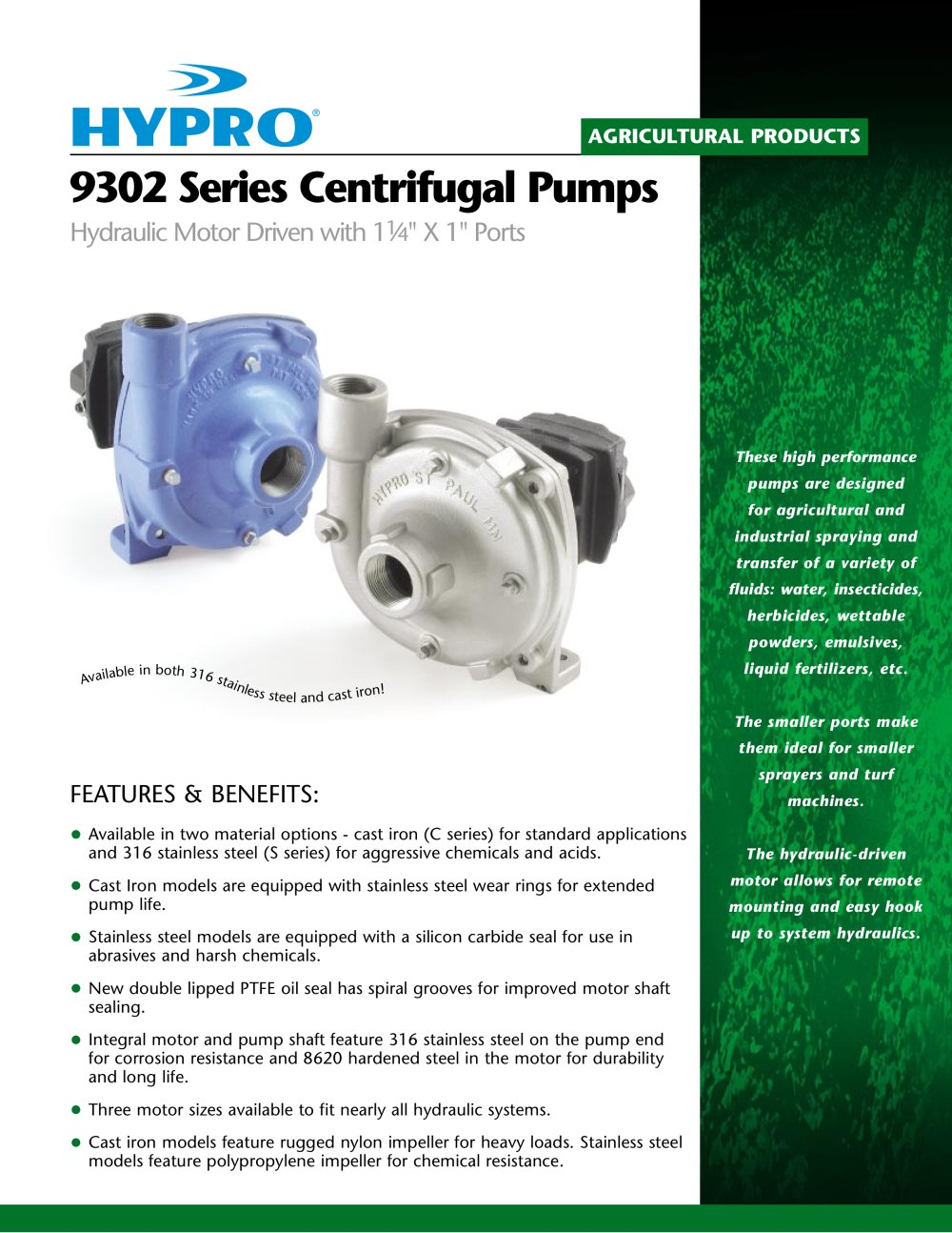 9302 Series Sales Sheet - Hypro Pressure Cleaning - PDF Catalogue ...