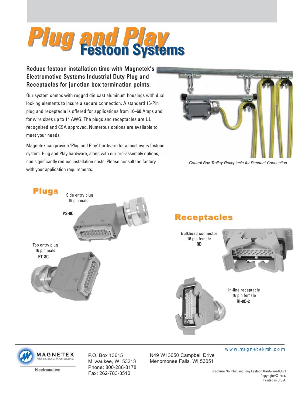 Plug play festoon system 1 1 pages
