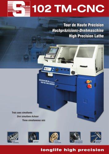 High-precision and production lathes of CNC range 102TM-CNC W20