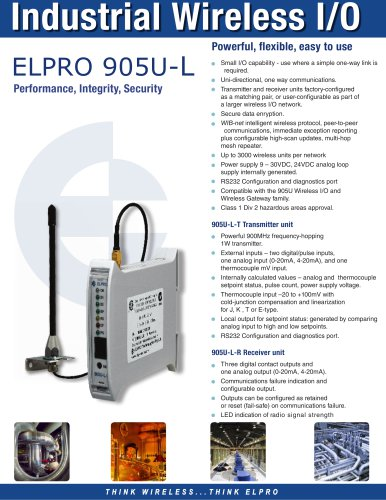 905U-L I/O Count Transmitter and Receiver Pair - ELPRO Technologies