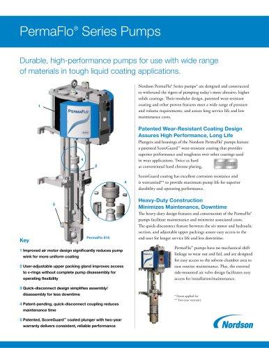 PermaFlo Series Pump Literature - Nordson Adhesive Dispensing - PDF