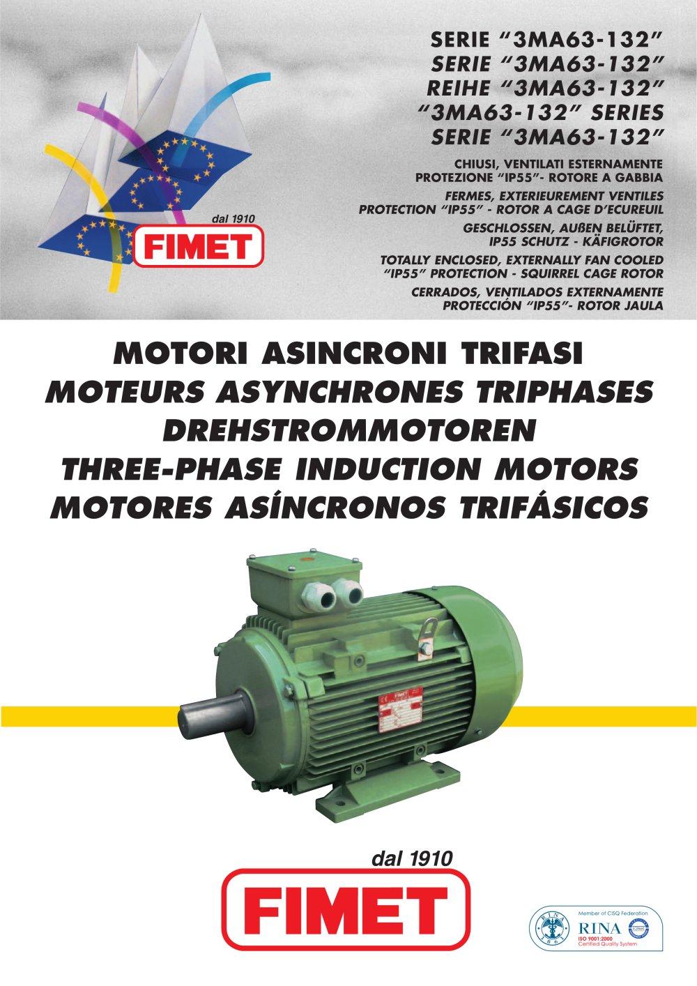 aluminum frame three-phase asynchronous motor 3MA series - FIMET ...