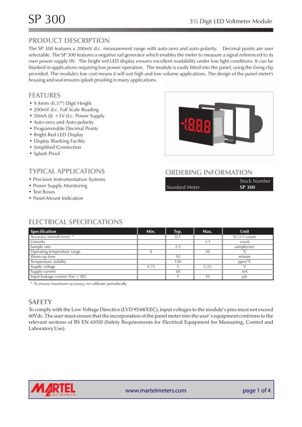 sp 300 martel electronics pdf catalogue technical rh pdf directindustry com