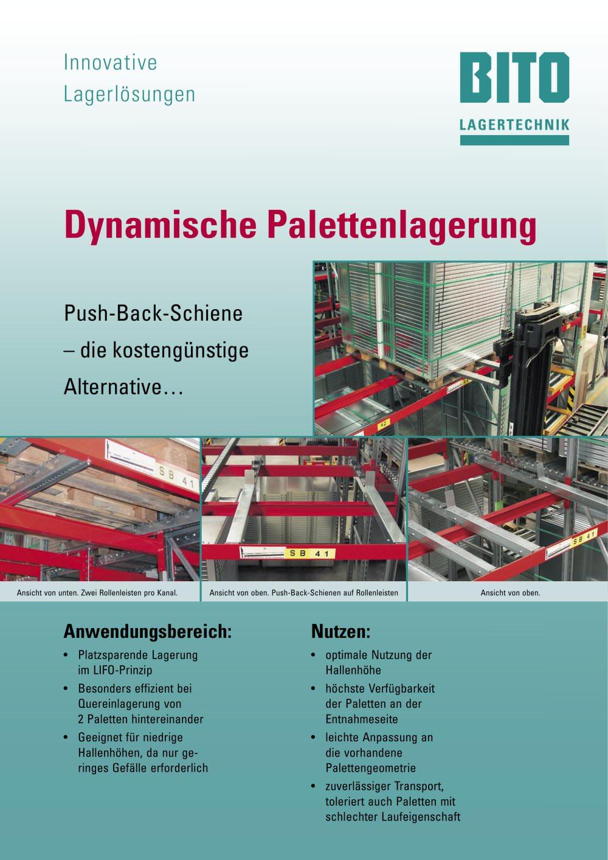 Dynamische Palettenlagerung: Push Back Schiene Im Paletten Einschubregal    1 / 2 Pages