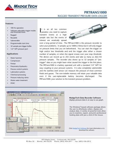 PRTrans1000 Transient pressure recorder