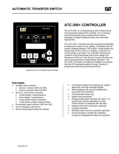 ATC-300+ Controller - Caterpillar Electric Power - PDF Catalogs