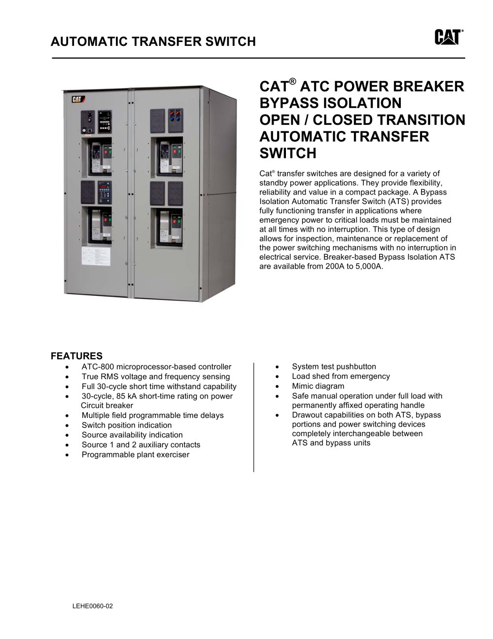 atc power breaker bypass isolation open/closed transition automatic transfer  switch - 1 / 4
