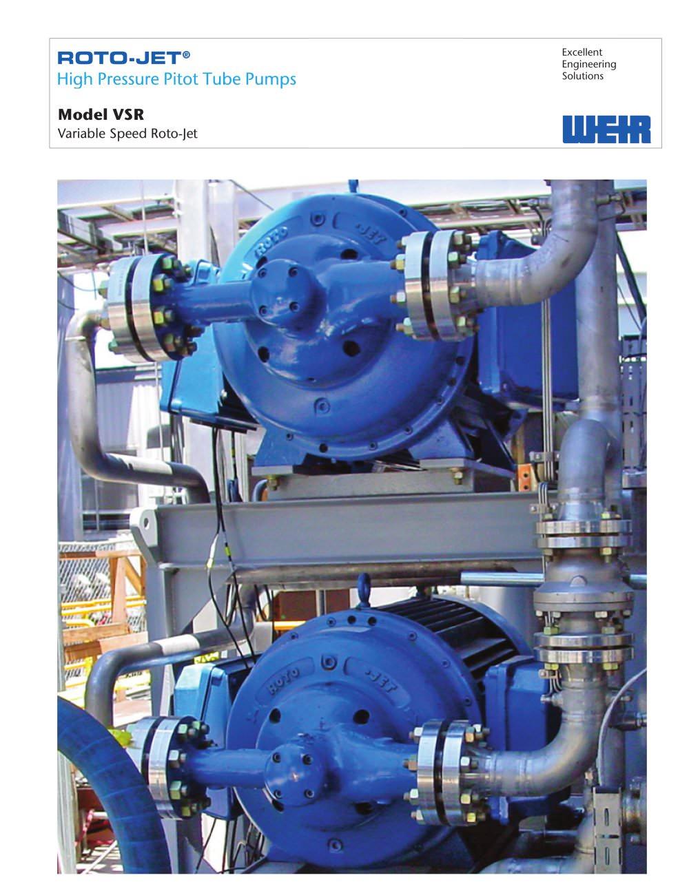product brochure roto jet model vsr weir power industrial pdf rh pdf directindustry com Roto Jet Parts List Roto-Jet RG Pumps
