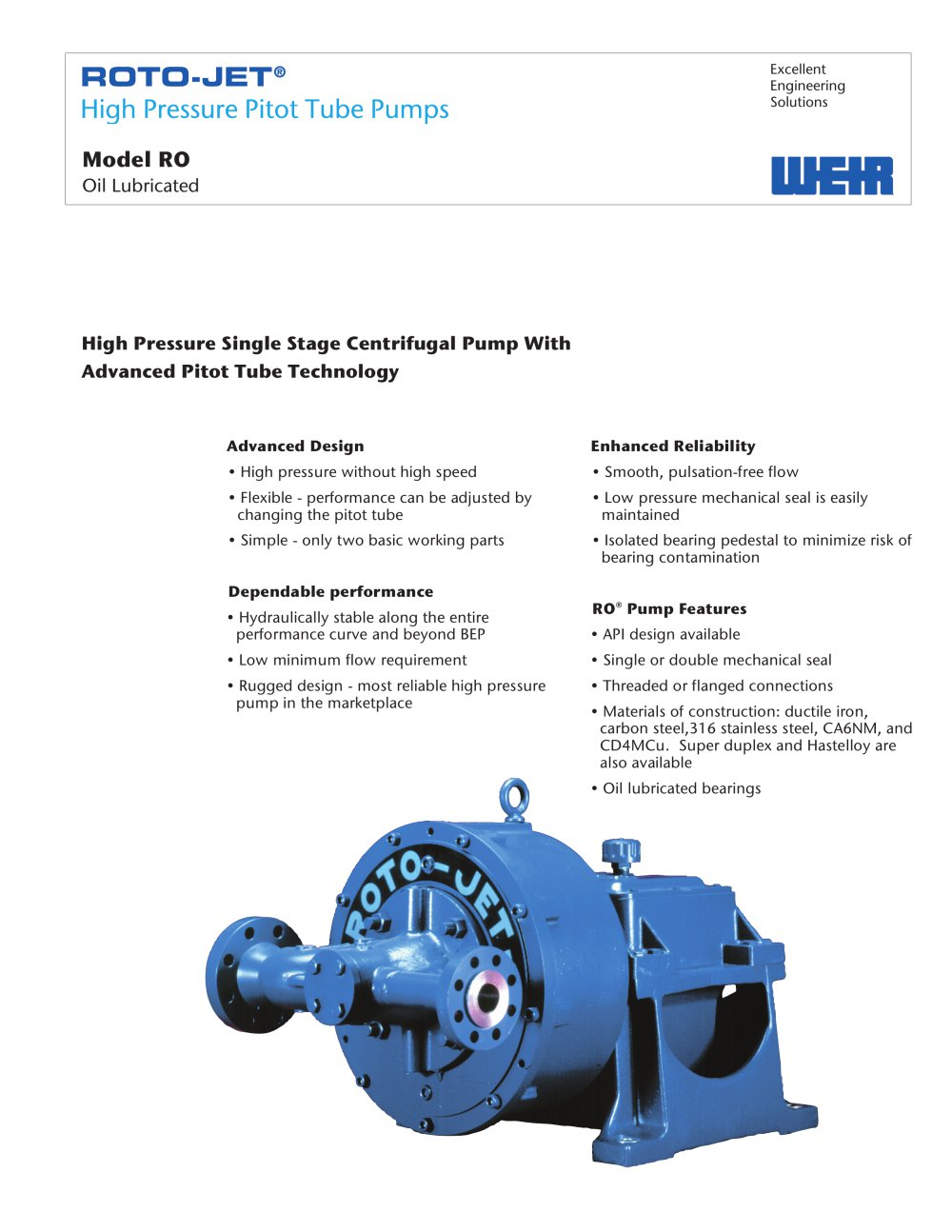 roto jet model ro weir power industrial pdf catalogue rh pdf directindustry com Roto-Jet RG Pump Manuel Weir Roto Jet Pump