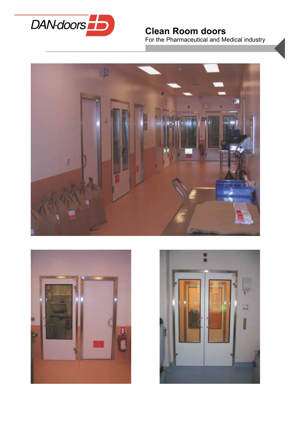 Clean Room doors - 1 / 4 Pages  sc 1 st  Catalogues Directindustry & Clean Room doors - DAN-doors - PDF Catalogue | Technical ...