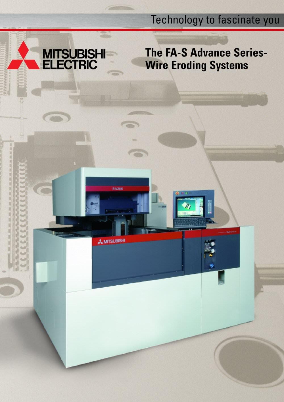 FA-S Advance - Mitsubishi EDM - PDF Catalogue | Technical ...