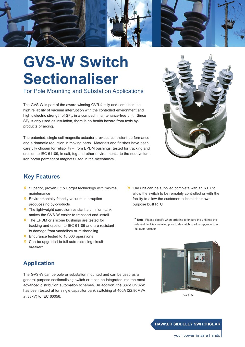 Gvs W Switch Sectionaliser For Pole Mounting And Substation Have Used My Circuit Many Applications I Do Think It Will 1 2 Pages Add To Mydirectindustry Favorites