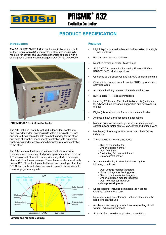 prismic a32 excitation controller brush group pdf catalogue rh pdf directindustry com