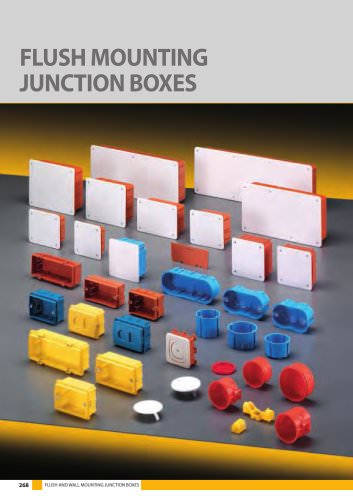 FLUSH MOUNTING JUNCTION BOXES