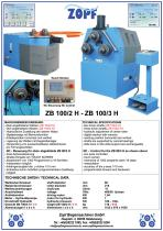 Bendingmachines model ZB 100H