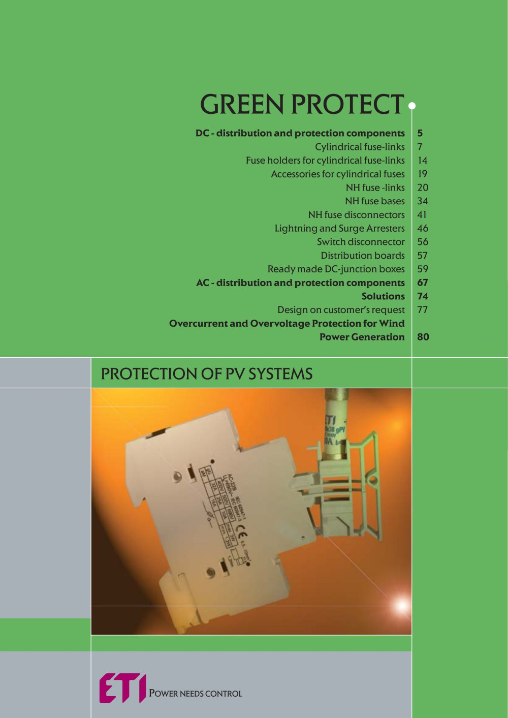 Protection Of Photovoltaic Systems Eti Pdf Catalogue Technical Universal Relay Fuse Auxiliary Distribution Box 1 84 Pages