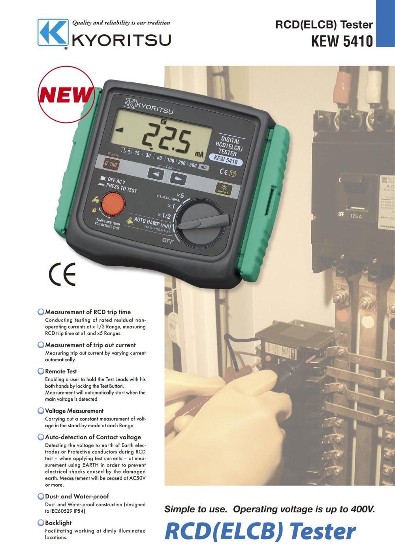 5410 Kyoritsu Pdf Catalogue Technical Documentation Brochure Digital Multimeter 1012 True Rms 1 2 Pages