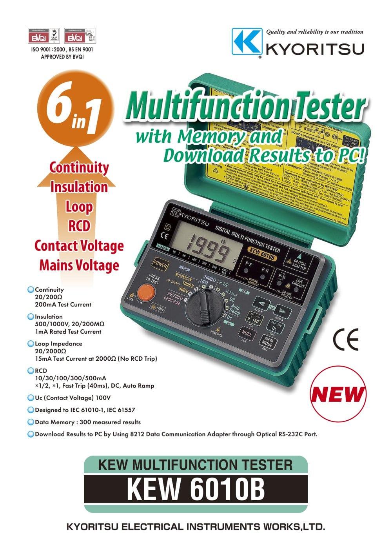 6010b Kyoritsu Pdf Catalogue Technical Documentation Brochure Digital Multimeter 1012 True Rms 1 2 Pages