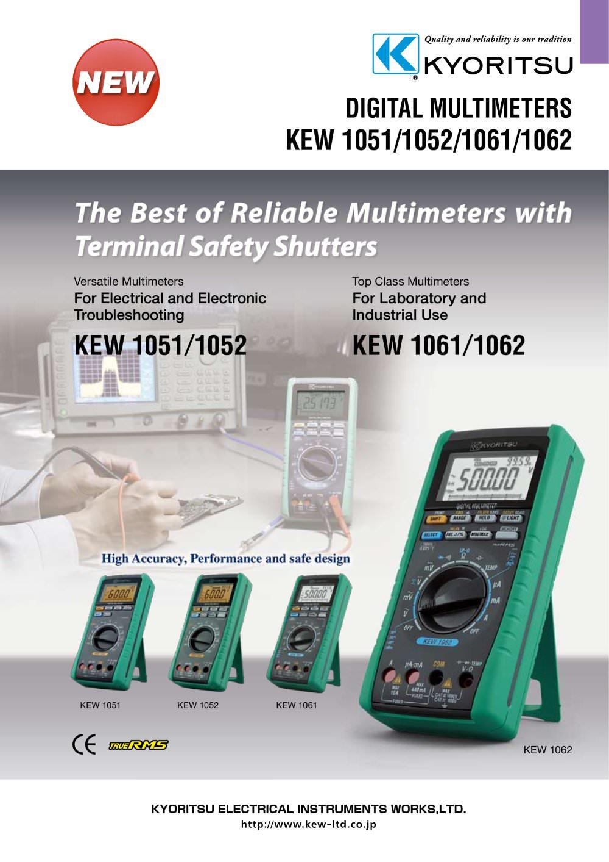 Digital Multimeters 1051/1052/1061/1062 - 1 / 6 Pages