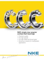 NKE single row angular contact ball bearings