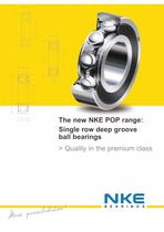 POP range single row deep groove ball bearings