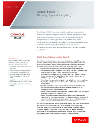 Oracle Solaris 11 - Oracle - PDF Catalogs | Technical Documentation