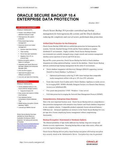 osb - Oracle - PDF Catalogs   Technical Documentation   Brochure