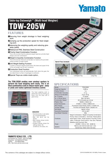 Table-Top Dataweigh, TDW-205W