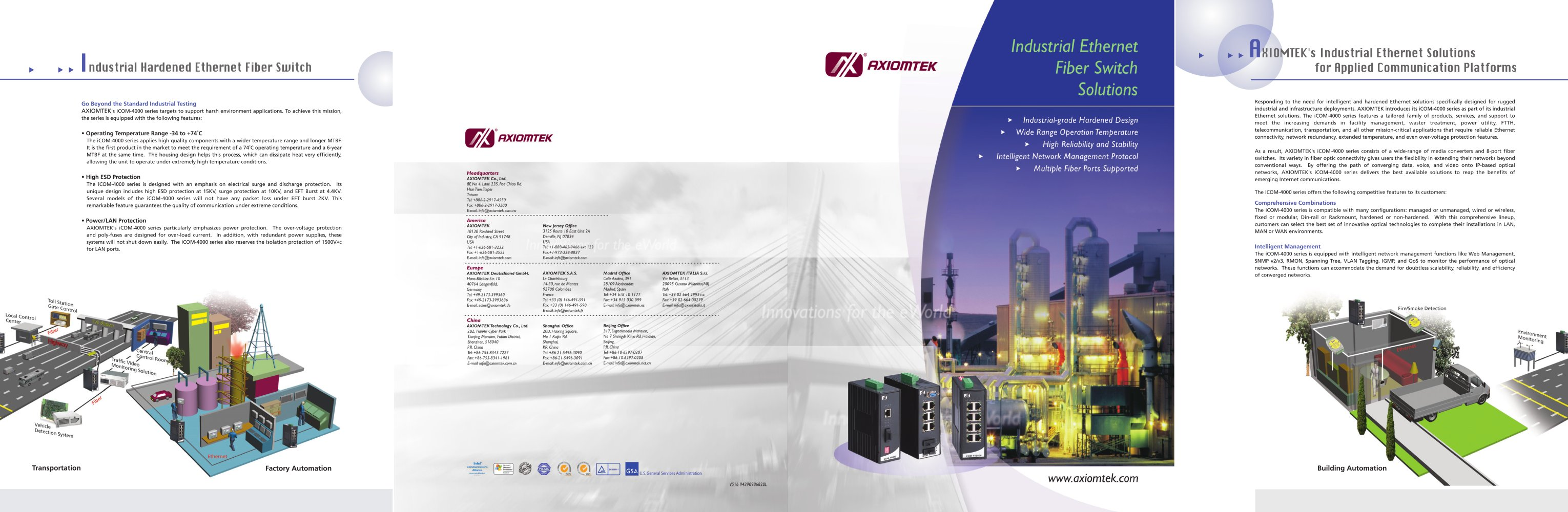 Industrial Ethernet Fiber Switch Solutions Axiomtek Pdf Voice Data Combination Module With 1 2 Pages