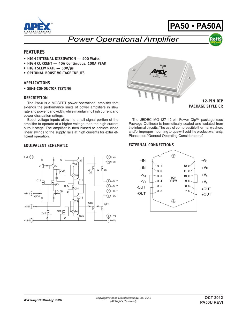 High Internal Power Dissipation 400w 40a 50v S Amplifier 01v To Variable Supply 1 4 Pages