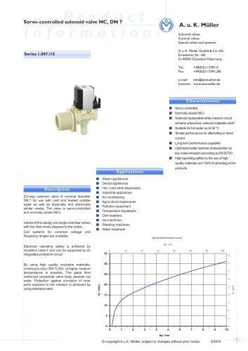 01.007.115 Servo-controlled solenoid valve, DN 7