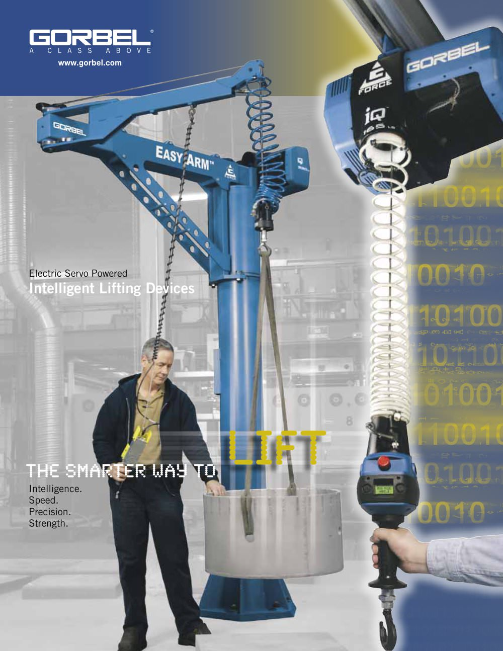 Intelligent Lifting Devices G Force Easy Arm And Jib Gorbel Workstation Cranes Overhead Work Station Crane Ase Systems 1 16 Pages