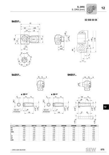 DR Gearmotor Catalog 2008