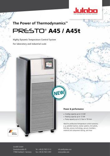 JULABO PRESTO A45 / A45t Process Circulators - JULABO GmbH