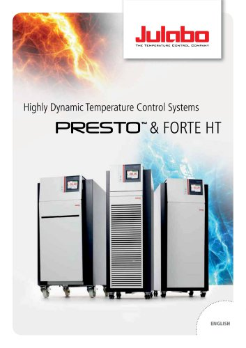 JULABO PRESTO Highly Dynamic Temperature Control Systems / Process
