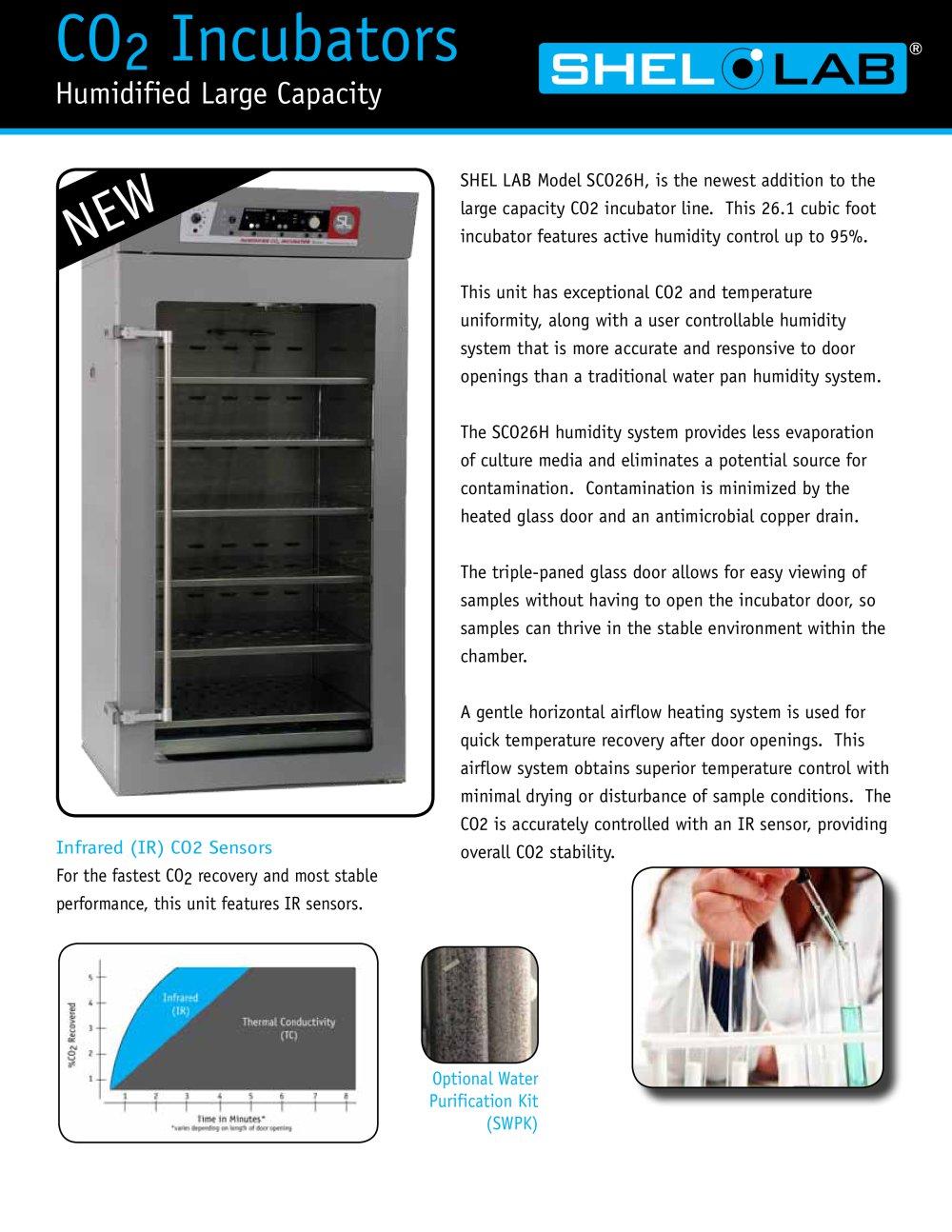 Cabinet Incubator Kit Sco26h Shel Lab Humidified Co2 Incubator Infrared Ir Sensor
