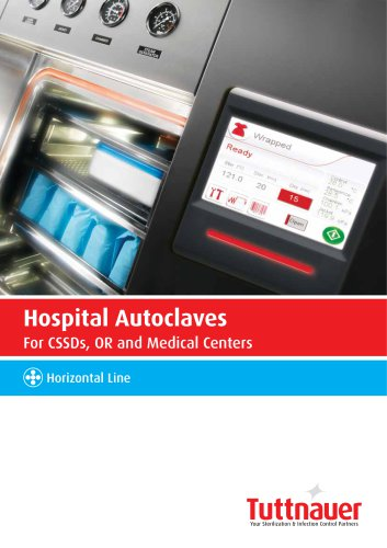 Hospital Autoclaves For CSSDs, OR and Medical Centers