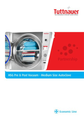 HSG Pre & Post Vacuum - Medium Size Autoclave