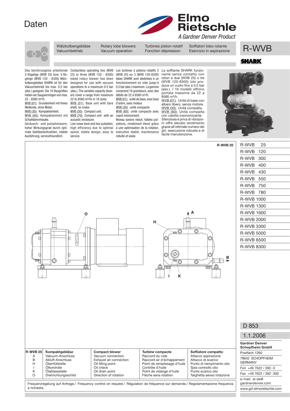 R Wvb Elmo Rietschle Pdf Catalogue Technical Documentation Gardner Denver Motor Wiring Diagrams 1 4 Pages