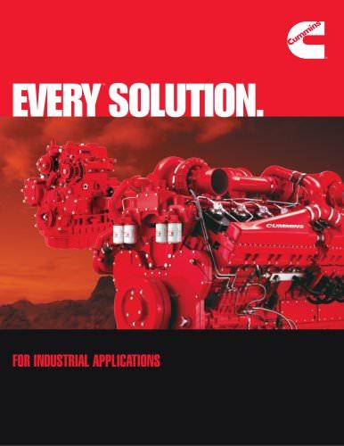 Every Solution - Industrial Engines Brochure - Cummins Inc  - PDF