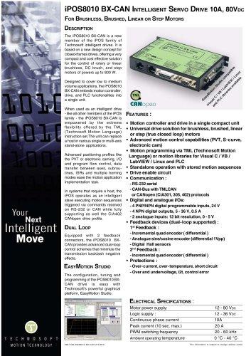 iPOS8010 & iPOS8020 - Technosoft - PDF Catalogs | Technical