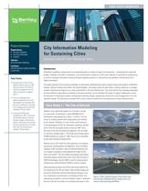 City Information Modeling for Sustaining Cities