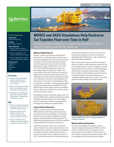 MOSES and SACS Simulations Help Dockwise Cut Topsides Float-over Time in  Half bd5c1777643