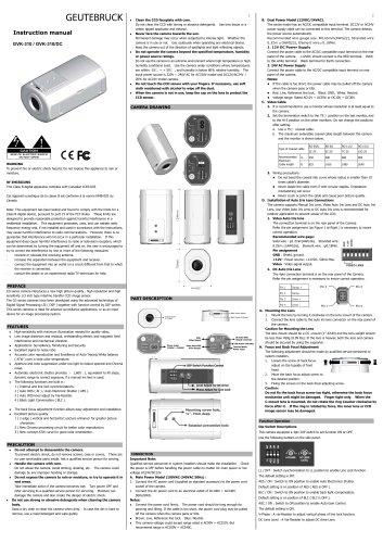 Monochrome Cameras GVK-310