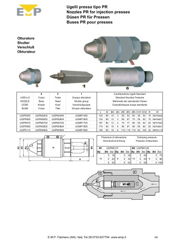 Nozzles for Injection moulding machines