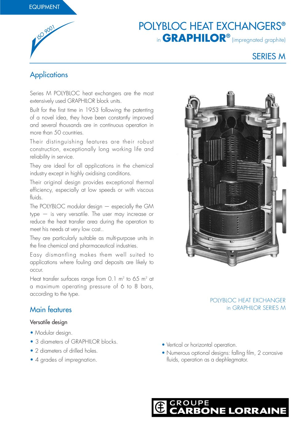 Polybloc M Mersen Equipements Industriels Et Anticorrosion Piping Layout Heat Exchanger 1 12 Pages